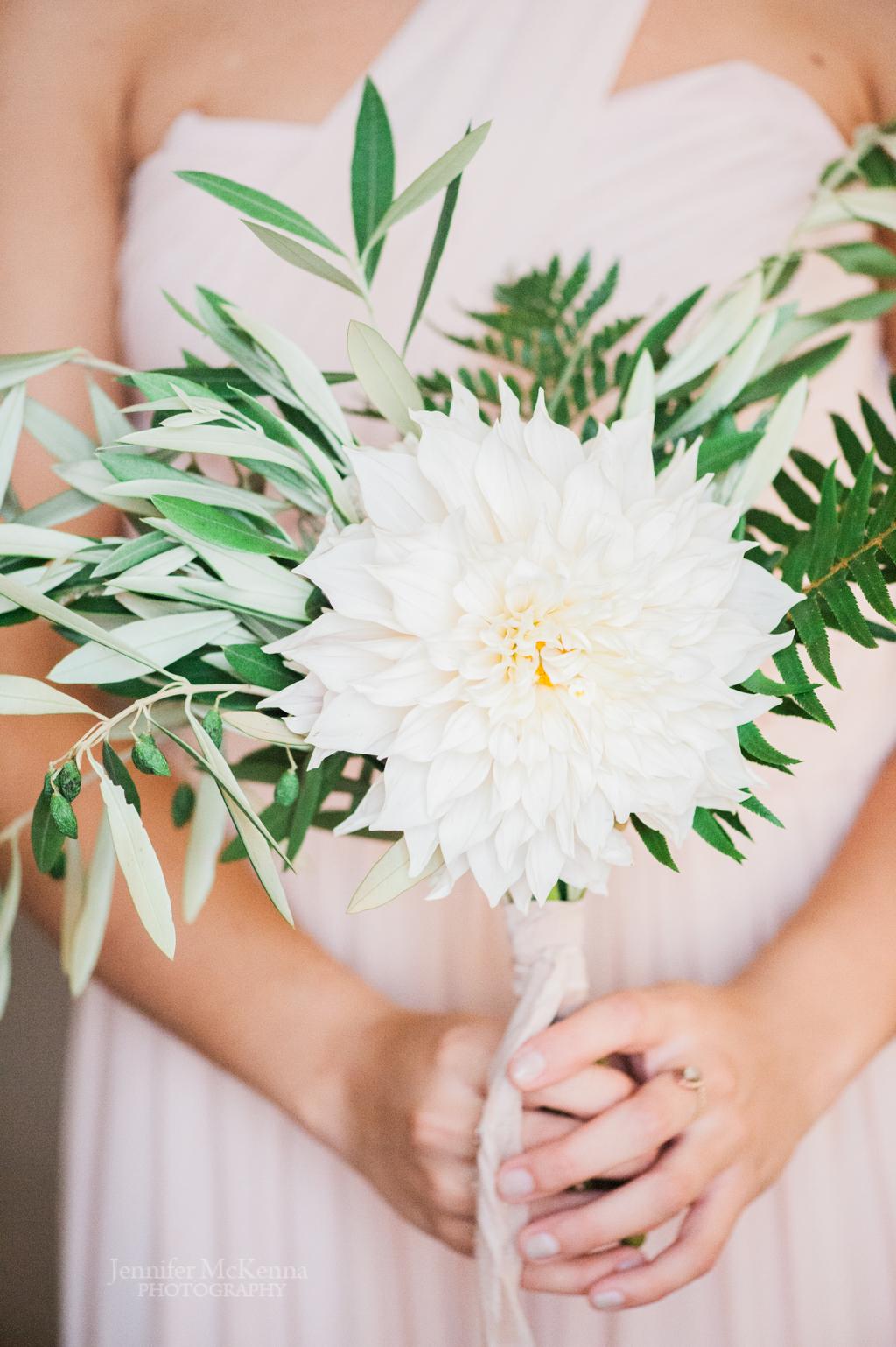 white dahlia sweet annie floral