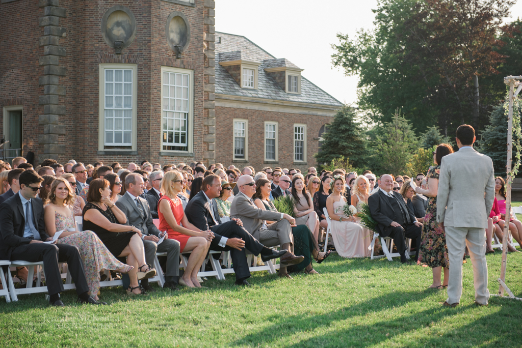 Crane Estate wedding ceremony