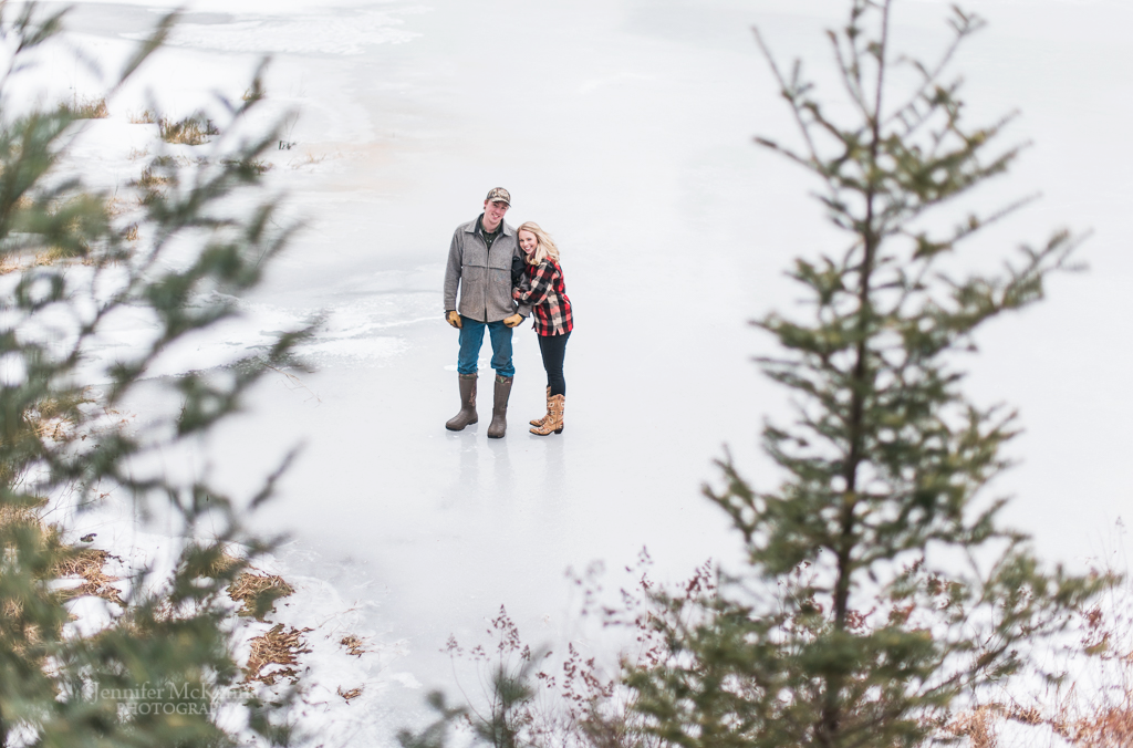 Vermont pond engagement