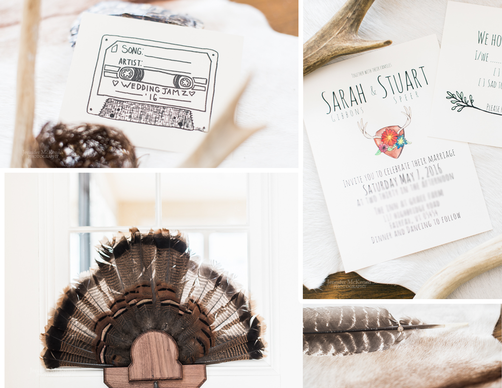 antler feather wedding details forest wedding
